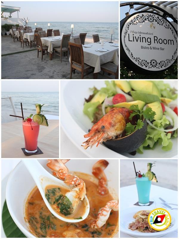 ลิฟวิ่งรูม บิสโทร แอนด์ ไวน์ บาร์ Living Room Bistro & Wine Bar ร้านอาหาร ที่กิน ริมทะเล หัวหืน (2)